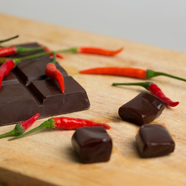 Chilli Dark Chocolate Caramels